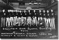 Northern Cambria Champs 1951-1952: Gallitzin High School Basketball Team
